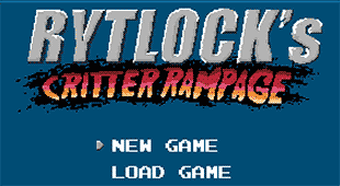 Rytlock's Critter Rampage title screen