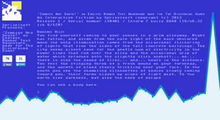 """Zombies Are South!"" is an Endless Runner Text Adventure that was developed by Stephen Tucker for Sprixelsoft and released on April 1st 2013. Here we see a screen grab of the game along with an overlay of the web traffic we had leading up to its release."