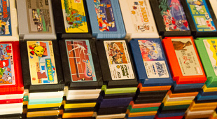 Matt's got a pretty sizable collection of games for the famicom