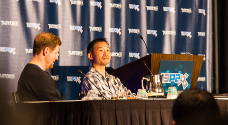 Keiji Inafune announcing his kickstarter launch at PAX Prime 2013 for Mighty No. 9, a spiritual successor to Mega Man.
